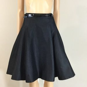 Kate Spade Silk Dupioni Circle Skirt with Belt